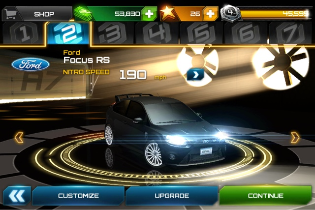 Asphalt 7 Screenshot on iPhone 4S