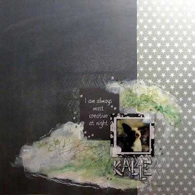 Anna-Marian kurssilla syntynyt layout Kalle-kisusta