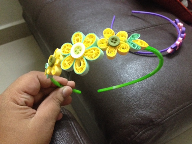 Crochet And Quilling Hair Band