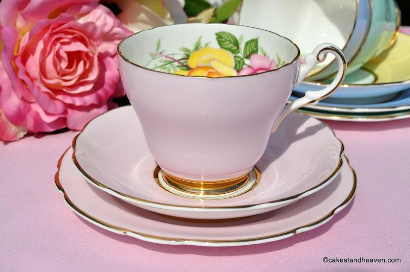 Harleigh Pink Vintage Teacup Trio