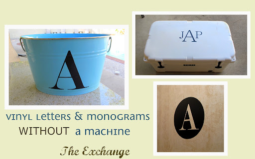 create vinyl monograms without a machine!