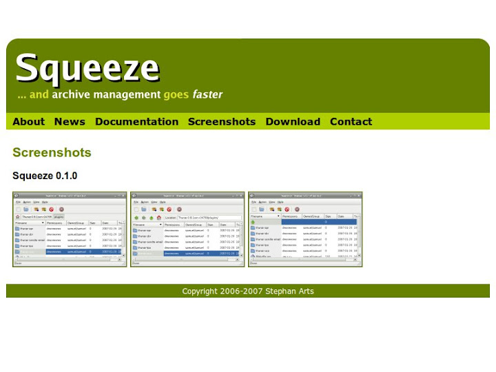 Squeeze Archive manager for Xfce