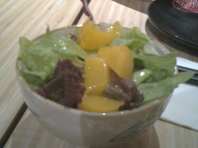 Peach with Mixed Salad