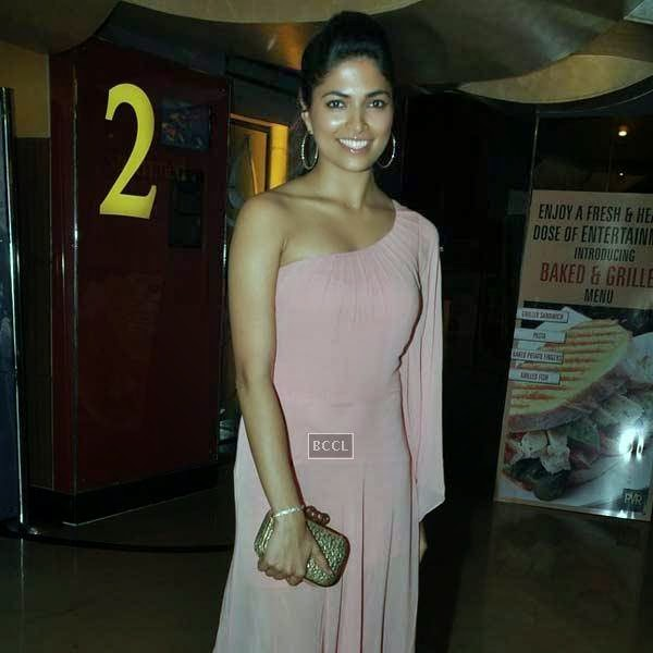 Parvathy Omanakuttan at the premiere of Bollywood movie Pizza, held at PVR in Mumbai, on July 17, 2014.(Pic: Viral Bhayani)