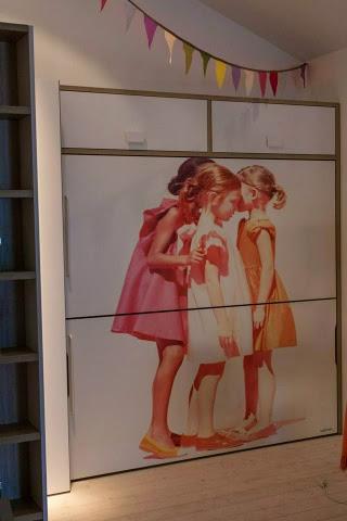 litera abatible con foto de 3 niñas