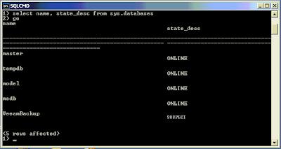 Cómo reparar una base de datos Microsoft SQL Server con error 3456, corrupta, que no arranca