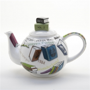 Bookish tea pot