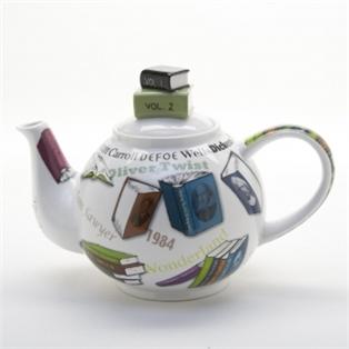 Bookish tea pot