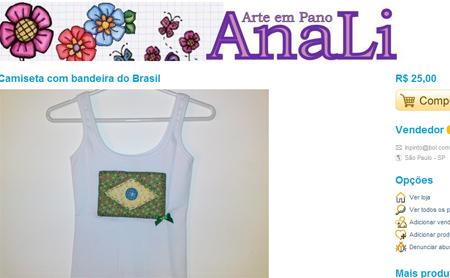 camiseta customizada bandeira brasil