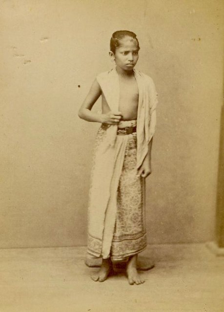 Singhalese Boy - Ceylon (Sri Lanka) Circa 1870's