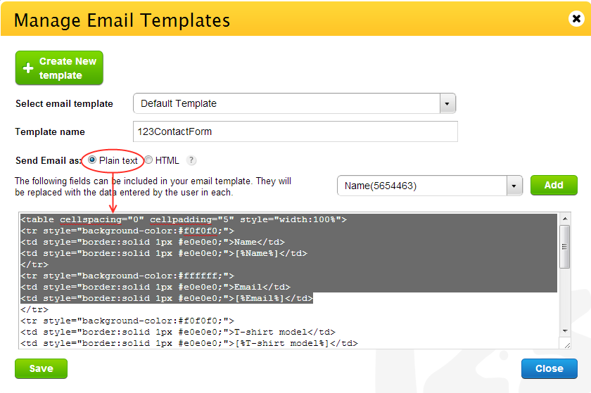 Customizing the email notification content 123formbuilder for It notification email template