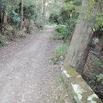 Stone boundary on Lady Carrington Drive (173058)