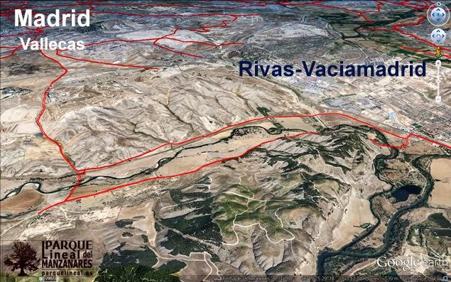 Vista de las vías Pecuarias que transitaban por el entorno del último tramo del Canal.