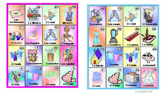 Lotería para despedida de soltera | Pulso Digital