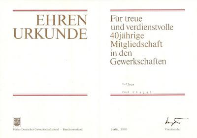 IV 0051Ehrennadel 40 Jahre FDGB