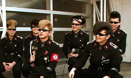 japanese boy band kishidan dress like nazis