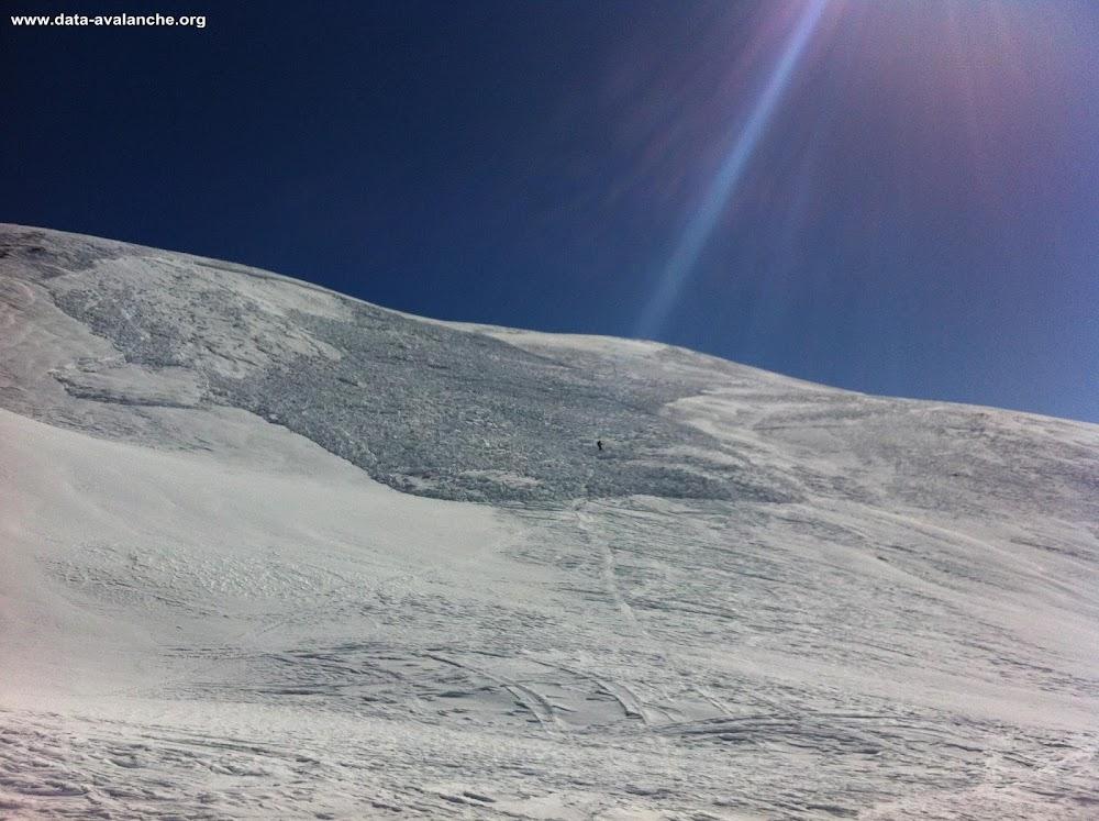 Avalanche Queyras, secteur Peyre Nière, En dessous de la Crête de Peyre Nière - Photo 1 - © Darré Pascal