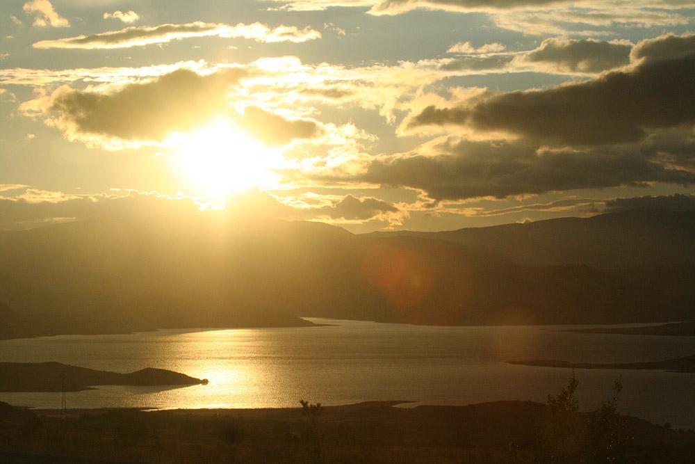 Закат, Турция, озеро Сапанджа