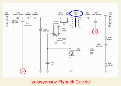Non-isolated flyback converter