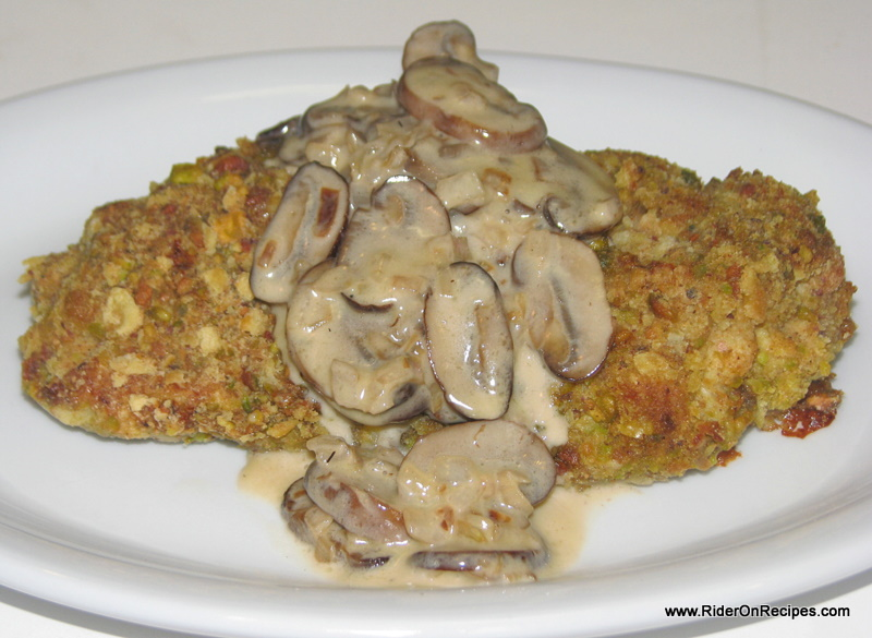 ... Four Points Foodie: Pistachio Encrusted Chicken with Mushroom Sauce
