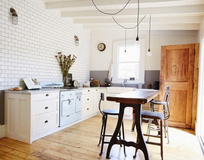La cocina y el estudio de vintage house - Azulejos vintage cocina ...