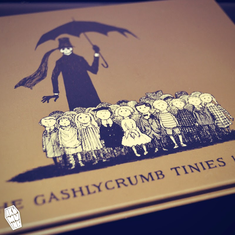 edward gorey, gashlycrumb tinies, skeleton umbrella, goth children, goth children book, nightmare book