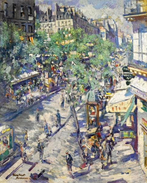Konstantin Korovin - The Boulevard of Sevastopol, 1923