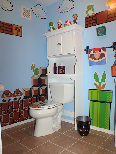 Amazing Mario, Donkey Kong and Pac Man Bathroom