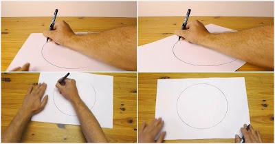 Como desenhar um círculo perfeito à mão