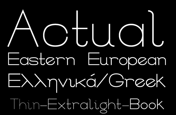 Actual Free Fonts
