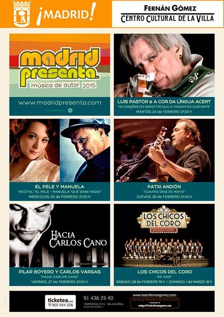 Madrid Presenta 2015. Música de autor en el Fernán Gómez