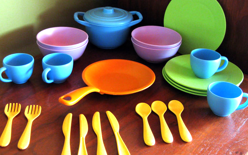 Toy Food And Dishes : Project play eats green toys dishes review