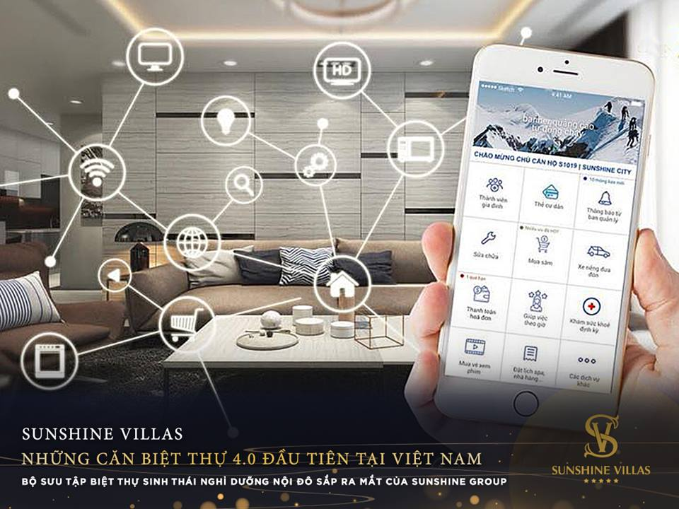 Ung dụng Smart Home-sunshine-Villas