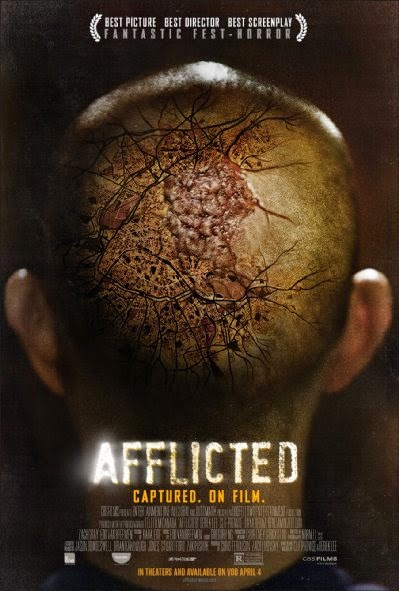 Poster Of English Movie Afflicted (2013) Free Download Full New Hollywood Movie Watch Online At Alldownloads4u.Com