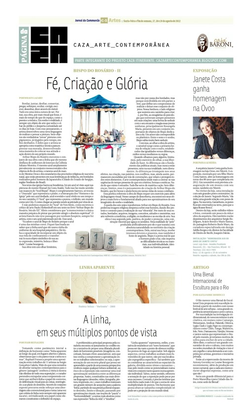 Página da Caza - 17 de Agosto de 2012