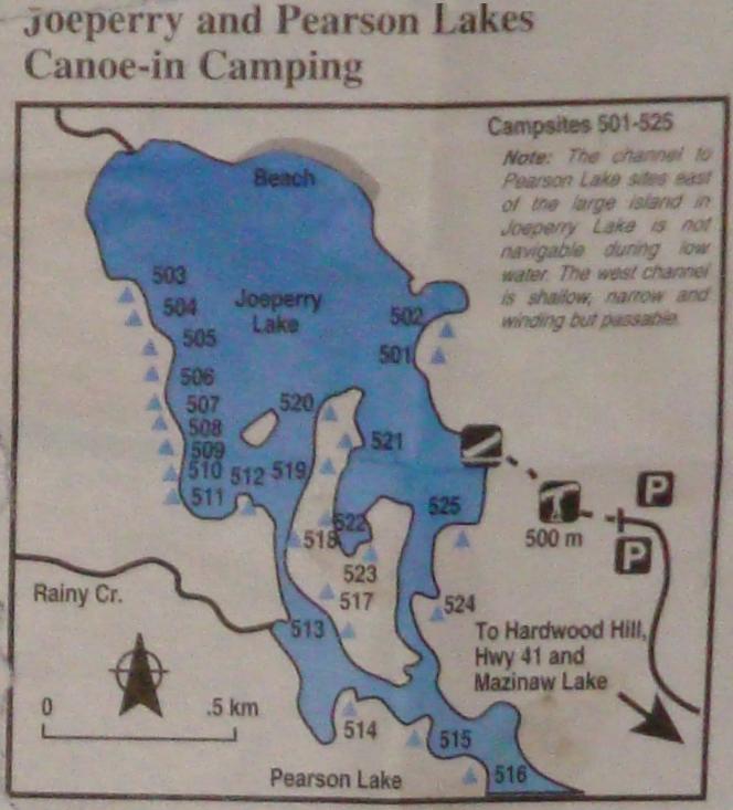 Joeperry Lake Site Map