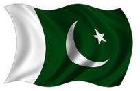Paquistão - bandeira para colorir