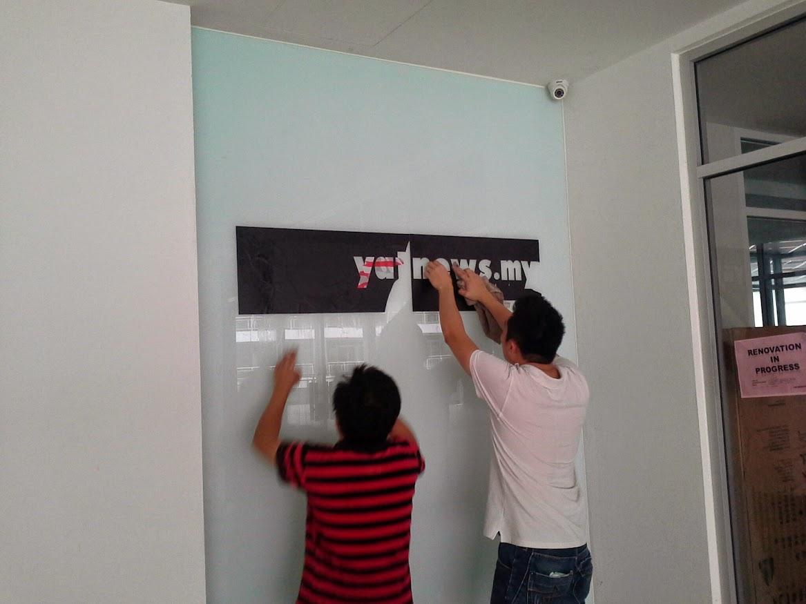install signage at main entrance