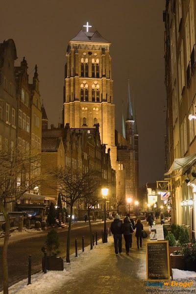 Gdańsk nocą - Kościół Mariacki