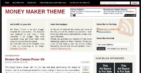 Money Maker Blogger Template