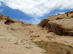 The first small side canyon I searched for rock art