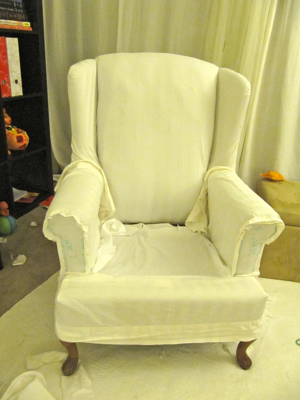 Merveilleux How To Make A Wing Chair Slipcover