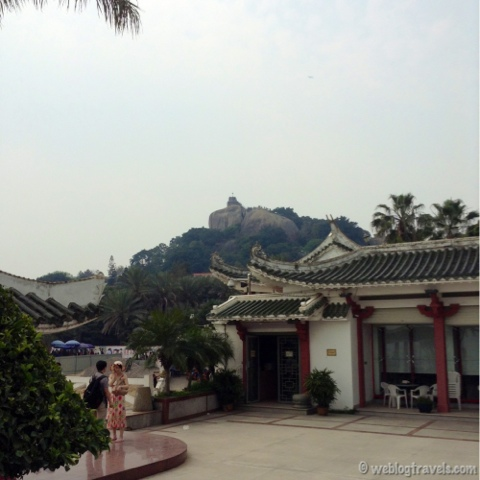 sunlight rock, gulangyu island, xiamen, temple
