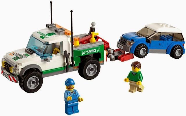 Bộ xếp hình Lego City 60081 Xe bán tải cứu hộ Pickup Tow Truck