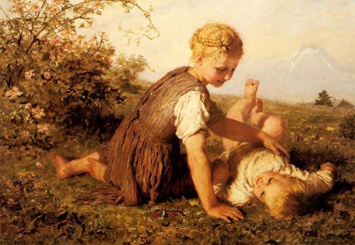 Karl Wilhelm Friedrich Bauerle - An Autumn Idyll