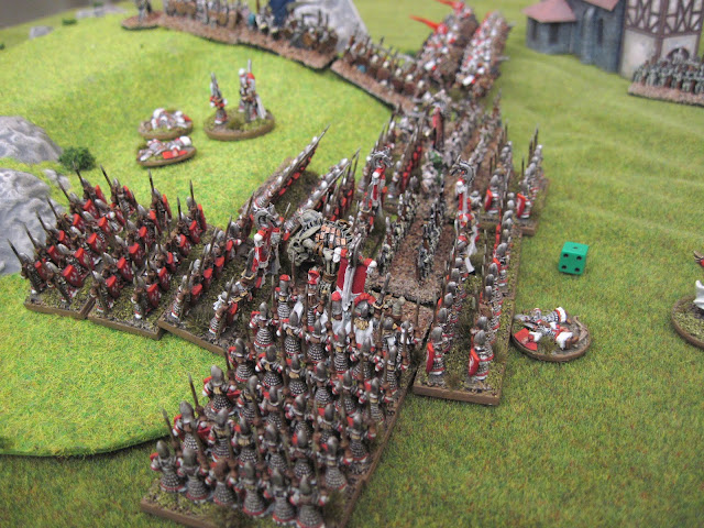After pushing the Undead back, the Elves initative into them.