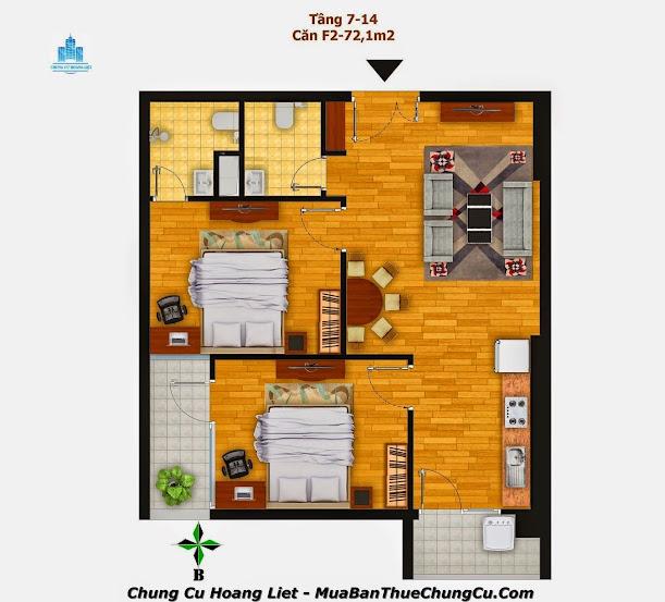 Thiết kế căn hộ chung cư Hoàng Liệt