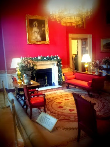 The Red Room, White House Christmas. #WHHolidays #WHTravelBloggers