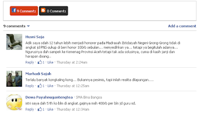 kotak komentar facebook berdampingan dengan komentar gambar