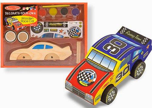 Bộ tô màu và thiết kế xe đua số 30 bằng gỗ ME2370 với màu vẽ và sticker đẹp mắt